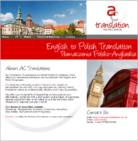 Ac-Translation.co.uk: Website Screenshot