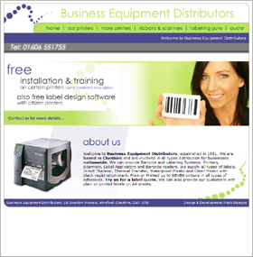 BusinessEquipmentDistributors.co.uk: Website Screenshot