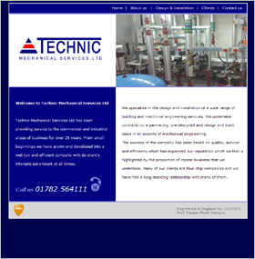 TechnicMSL.co.uk: Website Screenshot